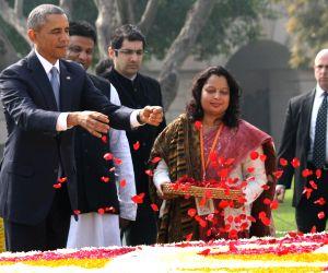 Obama pays tribute to Mahatma Gandhi