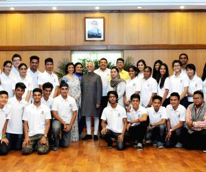 Vice President meets participants of project 'Planet Harmony'