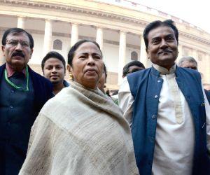 Mamata Banerjee at the Parliament premises