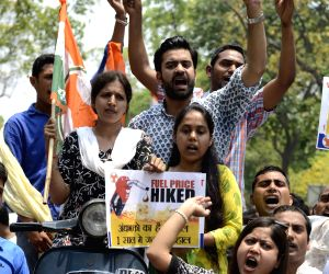 Youth Congress workers protest