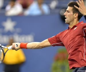 New York: U.S. Open tennis tournament - Novak Djokovic