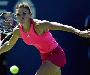 New York: U.S. Open tennis tournament - Simona Halep