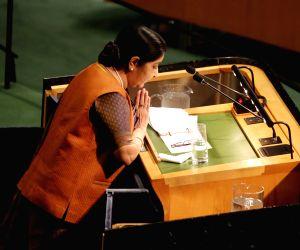 New York: Sushma Swaraj at UNGA
