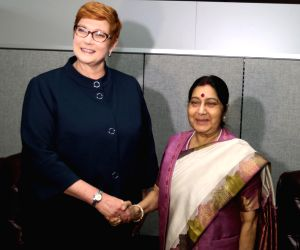 New York (US): Sushma meets Australian Foreign Minister Marise Payne