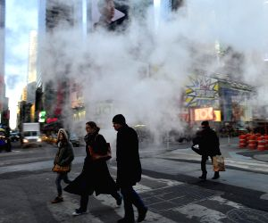 US NEW YORK WEATHER COLD WAVE