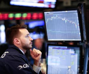US stocks trade lower amid trade fears, data