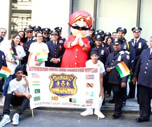 New York: India Day Parade - Indian American officers NYPD
