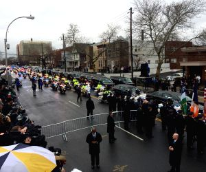 US NEW YORK POLICE OFFICER LIU FUNERAL