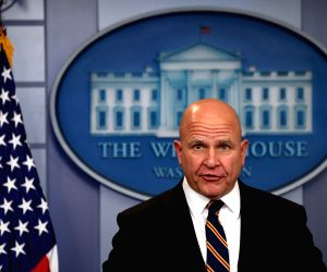 NEW YORK, March 22, 2018 - File photo taken on Nov. 2, 2017 shows H.R. McMaster speaks at a press briefing at the White House in Washington D.C., the United States. U.S. President Donald Trump ...