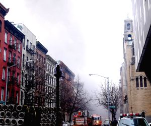 U.S. NEW YORK BUILDING FIRE