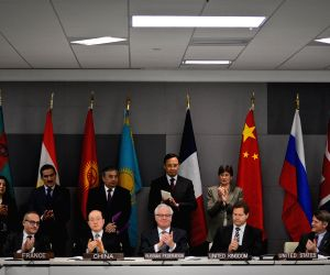 The signing ceremony of the protocol to the Treaty on a Nuclear-Weapon-Free Zone in New York