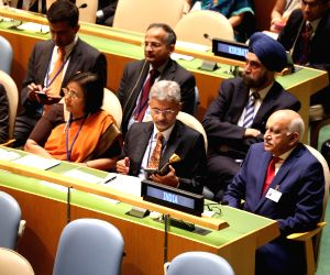 New York: Sushma Swaraj speaking at United Nations General Assembly