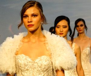 U.S.-NEW YORK-BRIDAL FASHION WEEK-JUESTIN ALEXANDER