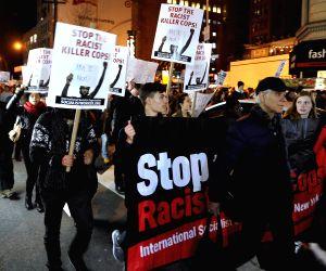 New York (U.S.):  Protest in Ferguson
