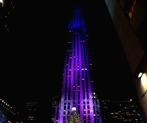 New York (U.S.): 82nd Christmas Tree Lighting Ceremony in Rockefeller Center