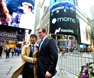 New York (U.S.): US New York Momo Nasdaq Ipo