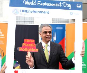 New York: Syed Akbaruddin during World Environment Day celebrations