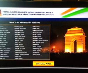 "New York: 'India unveils virtual ""memorial wall"" for fallen UN peacekeeping heroes'"