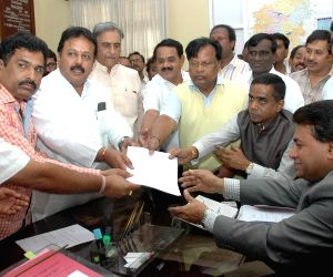 Puttanna files nominations for the post of Deputy Chairman of Karnataka Legislative Council