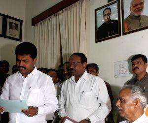 B. Y. Raghavendra takes oath