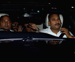 Newlyweds Ranveer Singh and Deepika Padukone seen at Mumbai's airport, on Jan 6, 2019.