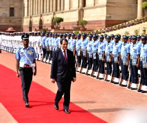 Ceremonial reception of Nicos Anastasiades, President of the Republic of Cyprus
