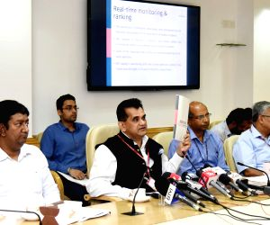 Amitabh Kant during First Delta Ranking of the Aspirational Districts Programme