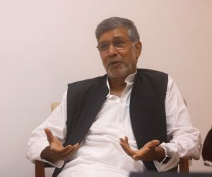 Kailash Satyarthi during an interaction with IANS