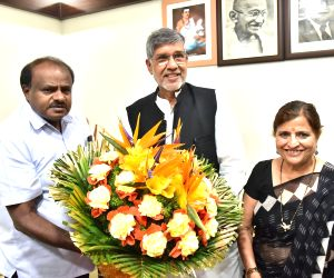 Kailash Satyarthi meets Karnataka CM Kumarswamy