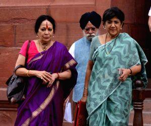 Nominated Rajya Sabha MP Sonal Mansingh at Parliament, in New Delhi on Aug 10, 2018.