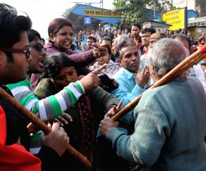 North 24 Parganas: CPI-M and Trinamool Congress workers clash with each other in West Bengal's North 24 Parganas district on the first day of the two-day long nationwide strike called by central ...