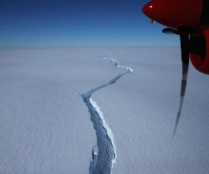 Vast cracks free huge iceberg in Antarctica