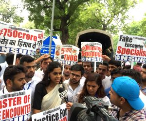 NSUI demonstration against Amit Shah