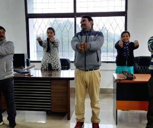 This Bihar Govt. Office Practices Yoga Everyday