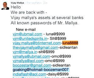 One of the tweet from the hacked account of Vijay Mallya