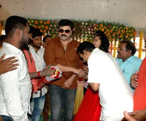 Opening celebration of Telugu film Kalyan Fan of Pavan