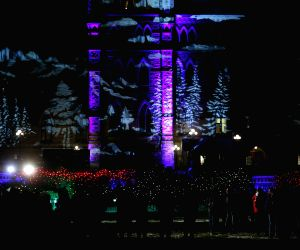 Ottawa (Canada): People gather in Ottawa for the 30th annual Christmas Lights Across Canada program