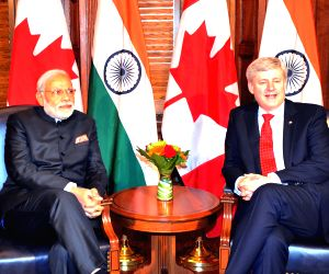 Ottawa (Canada): Modi during a meeting with Canadian PM
