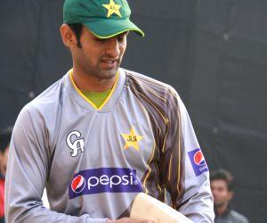 Pakistan Cricket team during practice