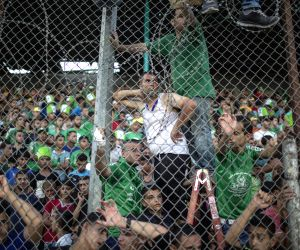 MIDEAST GAZA FOOTBALL MATCH