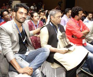 Panaji :IFFI 2017  - Indian Panorama Press Conference - Sharad Kelkar and  Sachin Khedekar