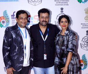 "Panaji :IFFI 2017  - Sonali Kulkarni and Prasad Oak - screening of film ""Kaccha Limbu"