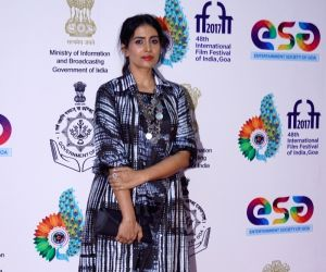 "Panaji :IFFI 2017  - Sonali Kulkarni - screening of film ""Kaccha Limbu"