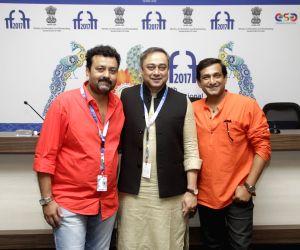 Panaji :IFFI 2017  - Indian Panorama Press Conference - Pulkit, Sachin Khedekar and Prasad Oak