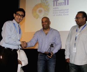Panaji :IFFI 2017  - Nachiket Pantvaidya and Sameer Nair -  Digital Space Panel Discussion