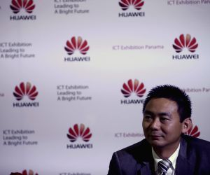 Panama City: Telecommunication products during Huawei's exhibition ICT
