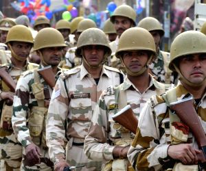 Paramilitary forces conducts flag march