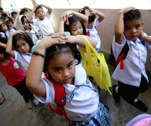 PHILIPPINES PARANAQUE CITY SCHOOL EARTHQUAKE DRILL