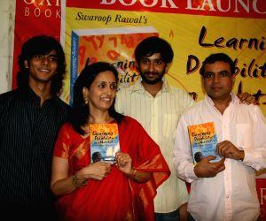 Paresh Rawal and Swaroop Rawal's book launch at  Oxford Bookstore at Mumbai.