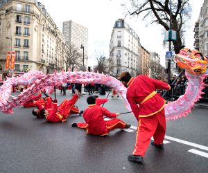 FRANCE-PARIS-CHINESE LUNAR NEW YEAR-PARADE